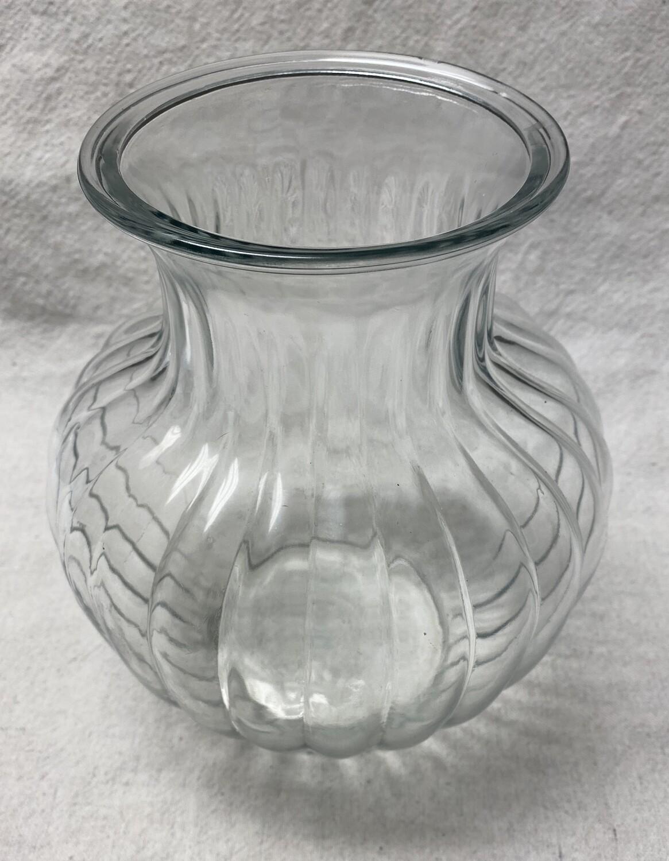 Apothecary Style Ribbed Jar / Vase