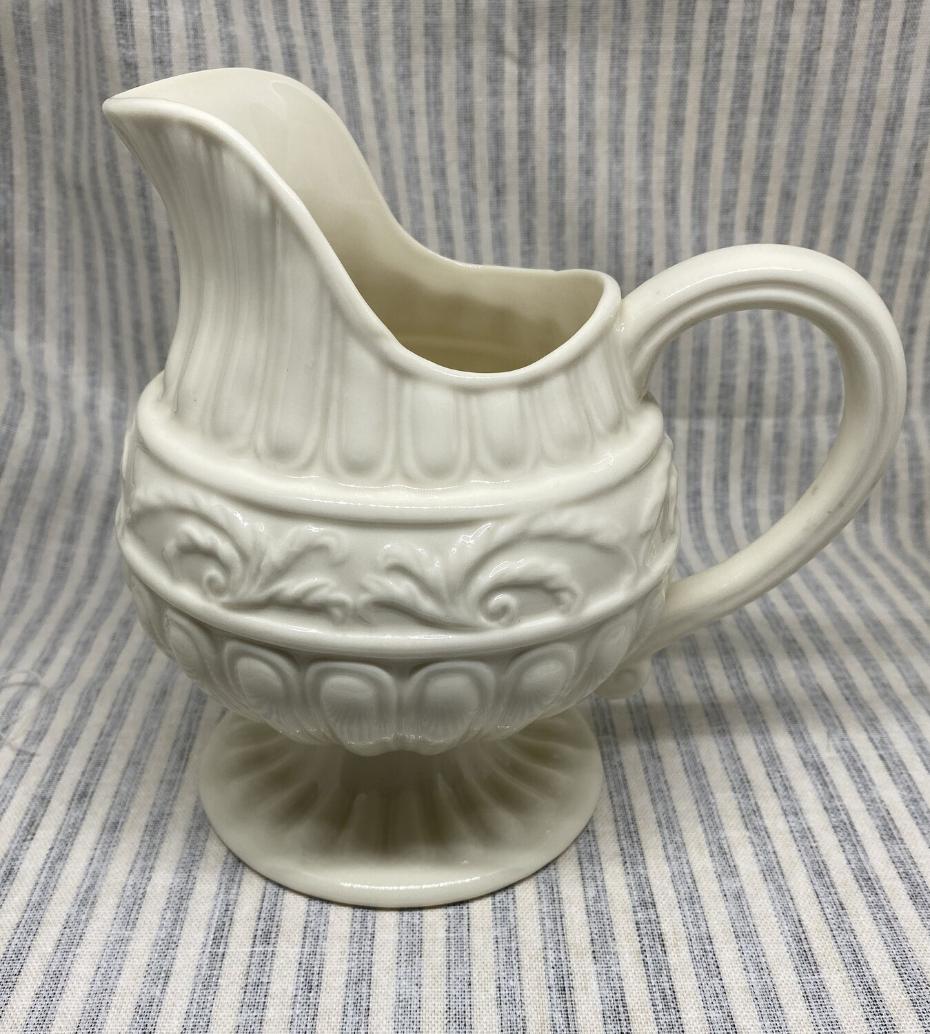 Two's Company Creamware Greek Style Pitcher