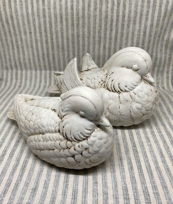 Pair Rustic Ceramic Ducks