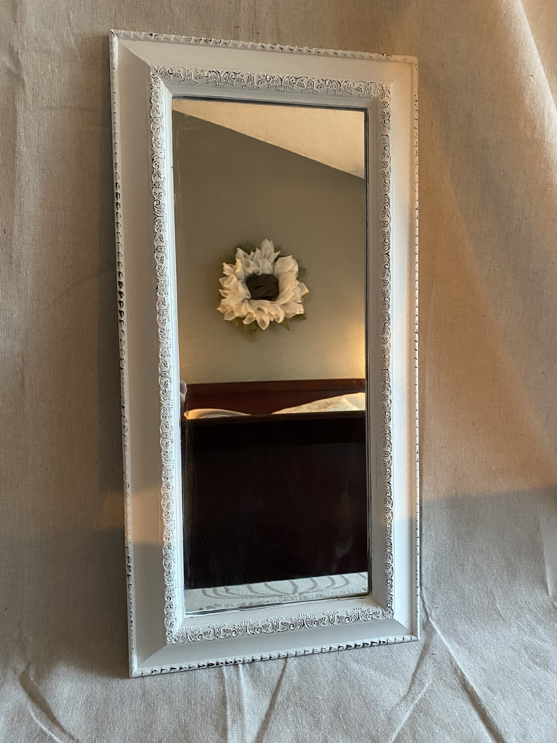 Farmhouse Inspired Oblong Wall Mirror