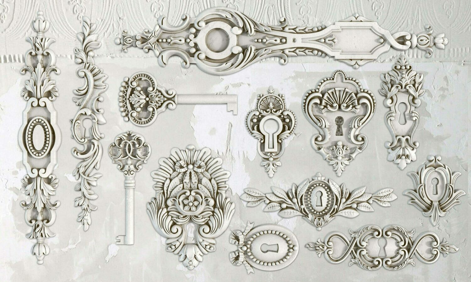 IOD LOCK & KEY 6×10 DECOR MOULD