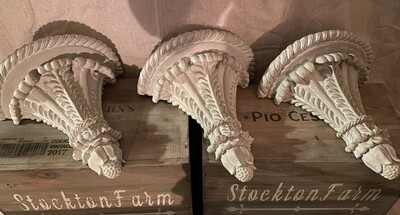 Ceramic French Country Inspired Wall Sconce