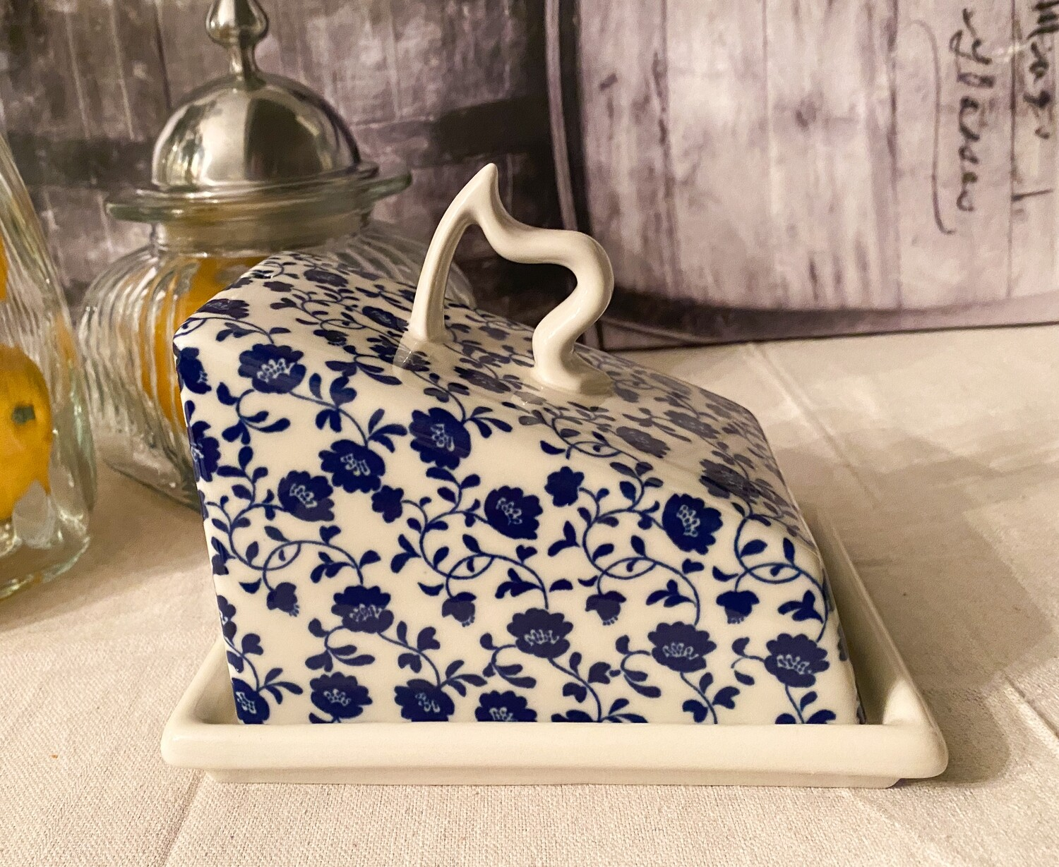 Vintage HAXBY + WALLACE Covered Cheese Dish