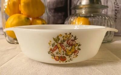 Fire King Milk Glass 1 Quart Casserole Dish #436