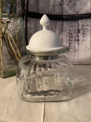 Small Artland Apothecary Jar with White Metal Lid