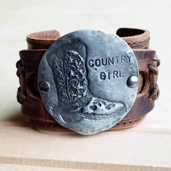 Molten Metal Country Girl Cuff in Antique Silver