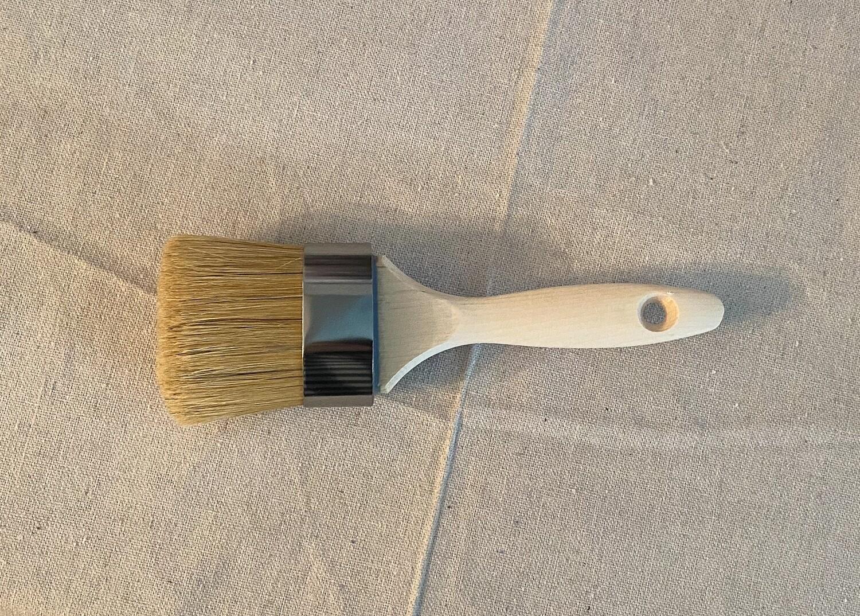 "MudPaint 2"" Oval Natural Bristle Paint Brush"