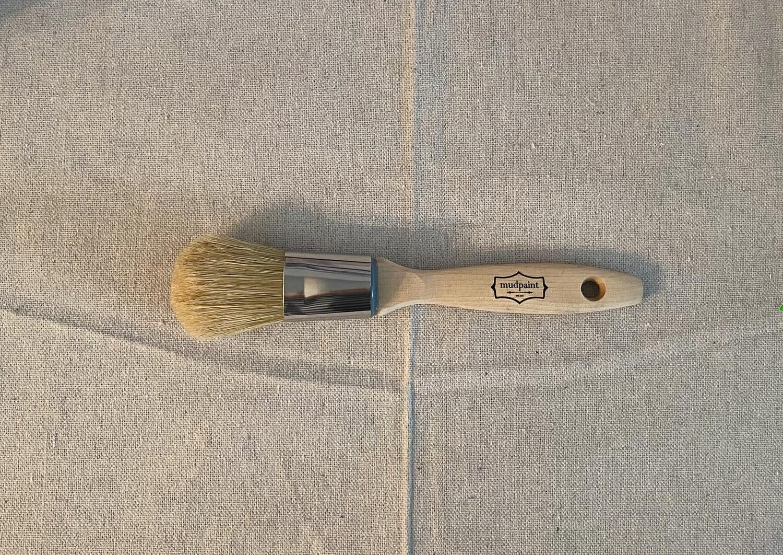 "MudPaint 1"" Natural Bristle Paint Brush"