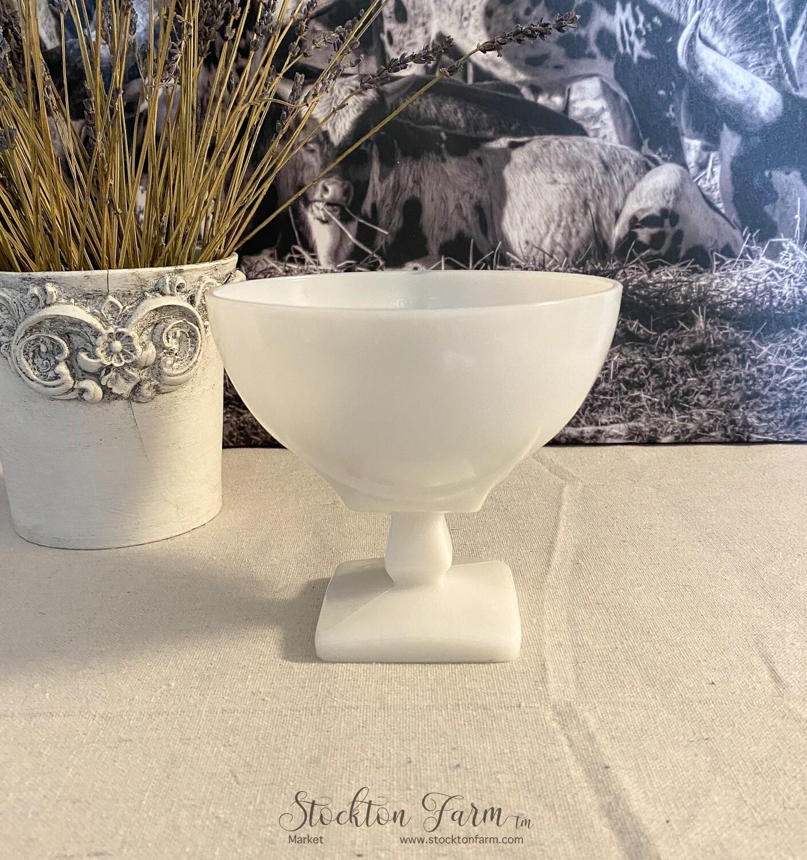 Vintage Milk Glass Pedestal Bowl / Compote