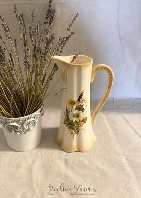 Vintage Decorative Fall Floral Vase / Pitcher