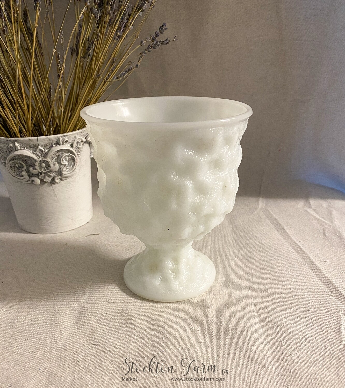 Vintage EO Brody Milk Glass M3000 Planter