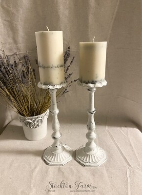 Farmhouse Inspired Forged Steel Candlesticks