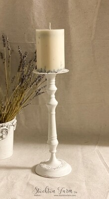 Rustic Farmhouse Metal Candlestick