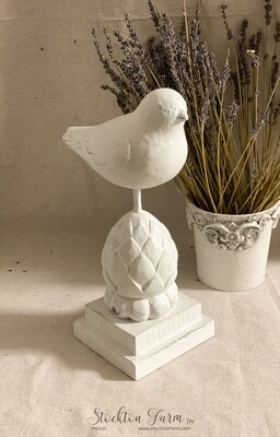 Distressed Wood Bird Decor