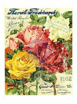 IOD Floral Treasures 24x36 Decor Transfer