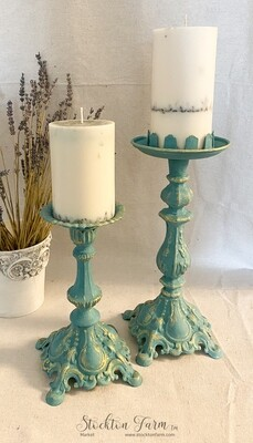 French Inspired Metal Candlesticks
