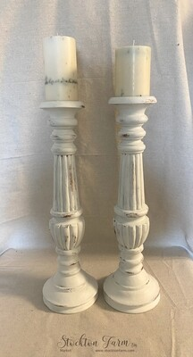 Farmhouse Inspired Tall Wood Candlesticks 20