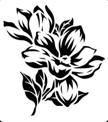 JRV Magnolia Stencil