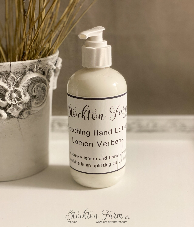 Lemon Verbena Soothing Hand Lotion 8oz