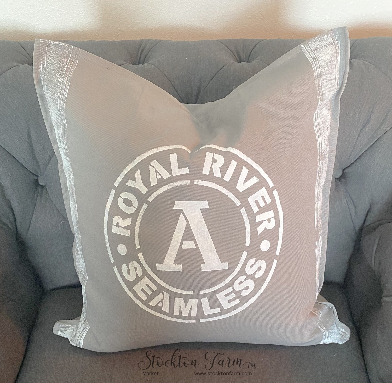 Royal River Gray Throw Pillow Covers 20x20