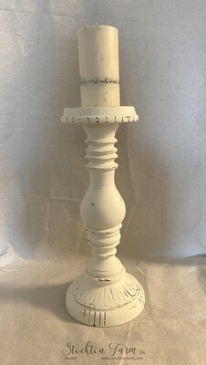 Farmhouse Inspired Tall Wood Candlestick