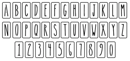 """JRV Farmhouse Letters & Numbers 3"""" Individual Stencil"""
