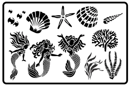 JRV Mermaid Magic Stencil
