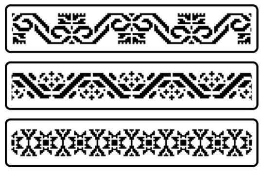 JRV Mexican Embroidery Border Stencil