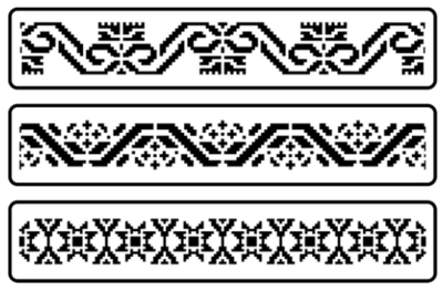JRV Mexican Embroidery Border Stencil Set