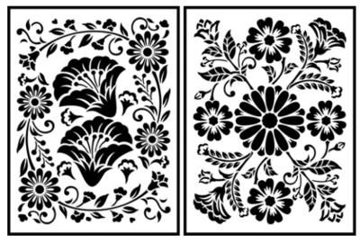JRV Folklorico Flora Stencil