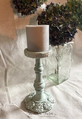 French Country Inspired Wood Candlestick 9