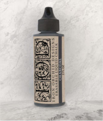 IOD ERASABLE LIQUID CHALK CHARCOAL 2oz