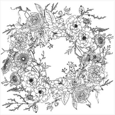 IOD WINTER'S SONG WREATH 24×24 PAINTABLE DECOR TRANSFER