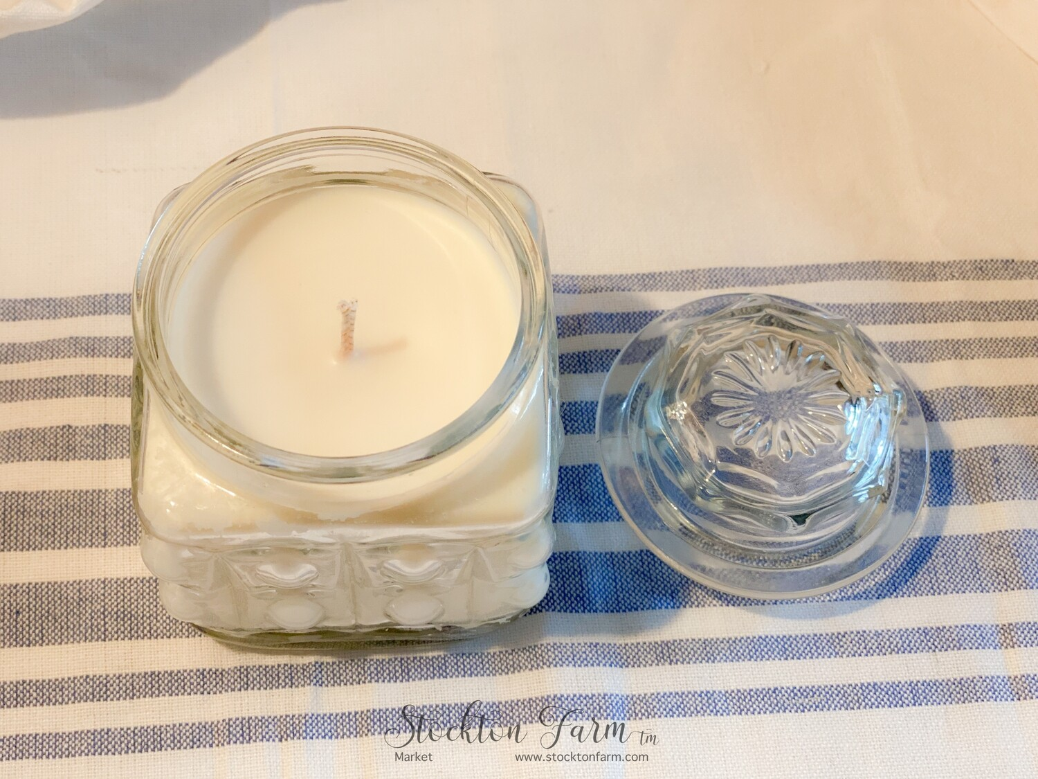 Lemon Verbena Apothecary Jar Soy Blend Candles