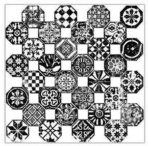 IOD MOSAICO 12x12 Decor Stamp