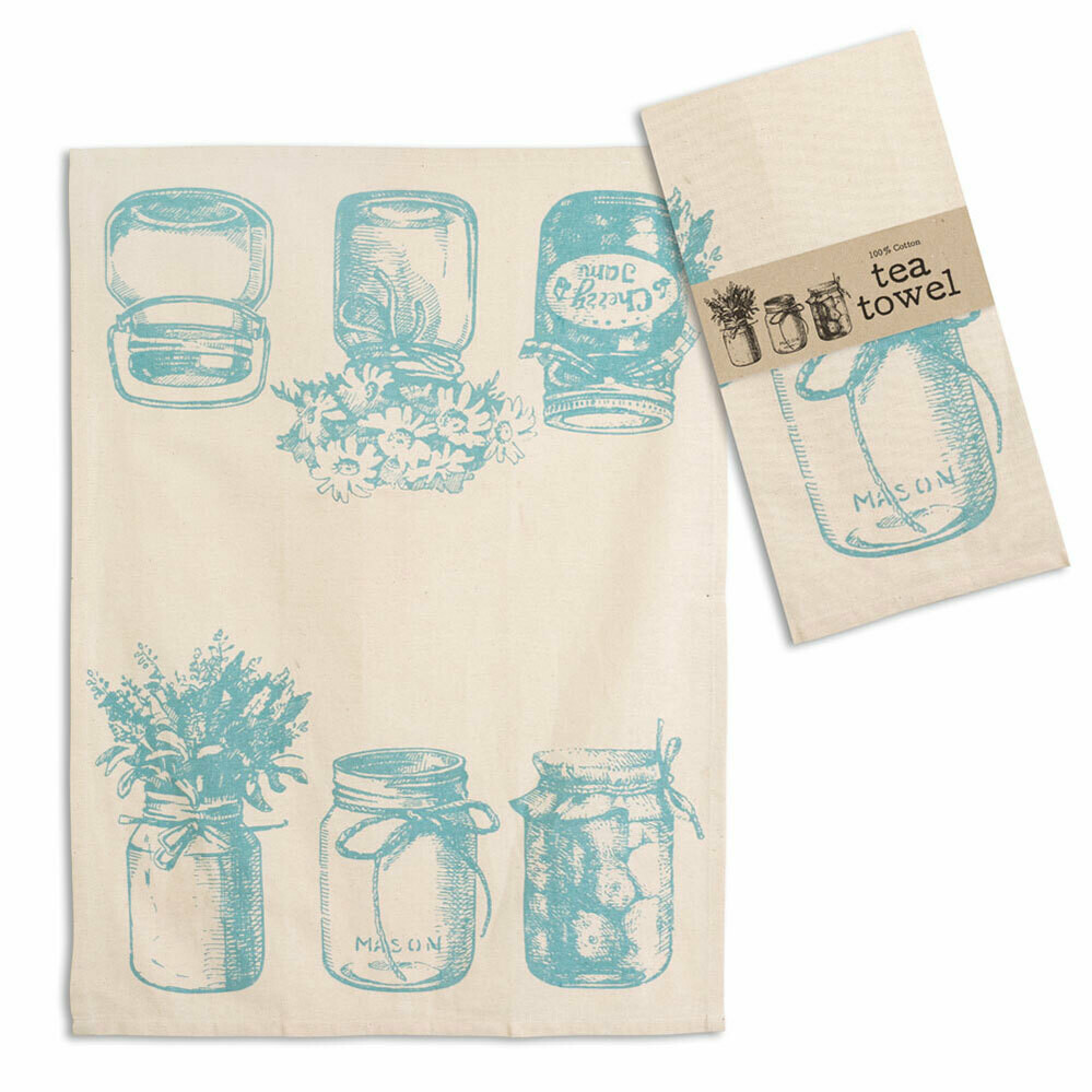 "Canning Jars Tea Towel 20"" x 28"""