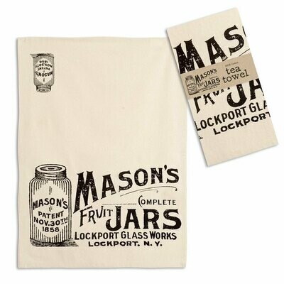 Mason Jars Tea Towel - Free Shipping!