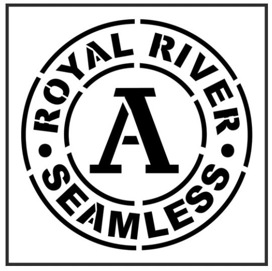 JRV Royal River Stencil