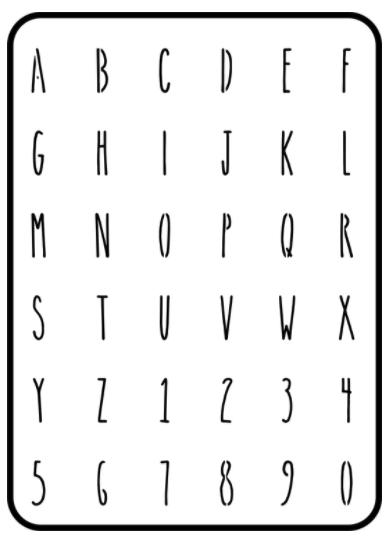 "JRV Farmhouse Mini Letters 1"" One Sheet Stencil"