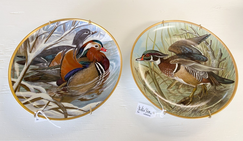 Vintage Franklin Porcelain Plate Water Birds of the World By Basil Ede