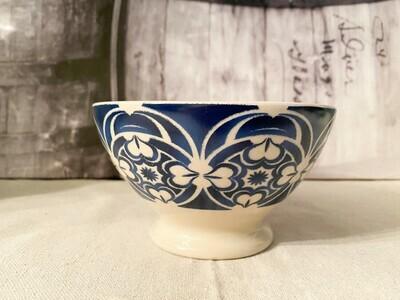 Kiss that Frog Blue & White Ceramic Bowl