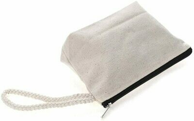 Natural 100% Cotton Canvas Cosmetic Bag  - Free Shipping!