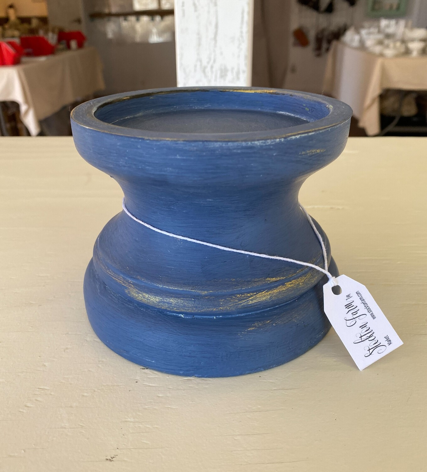 Chunky Blue Candlestick