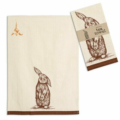 Bunny Tea Towel 100% Cotton - Free Shipping!