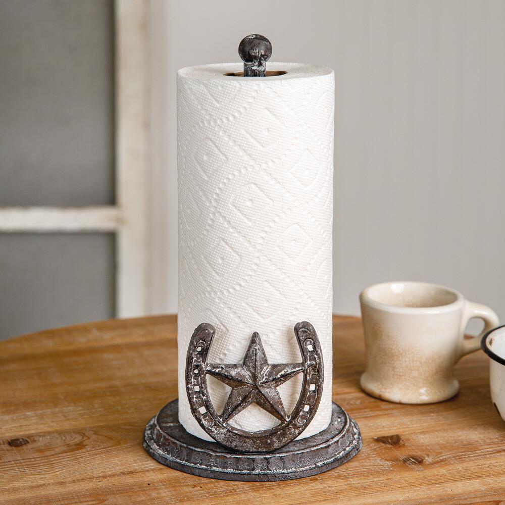 Cast Iron Horseshoe Paper Towel Holder