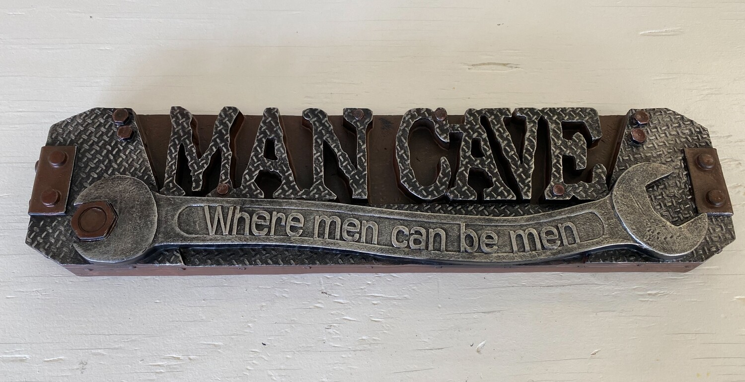 Man Cave Resin Sign