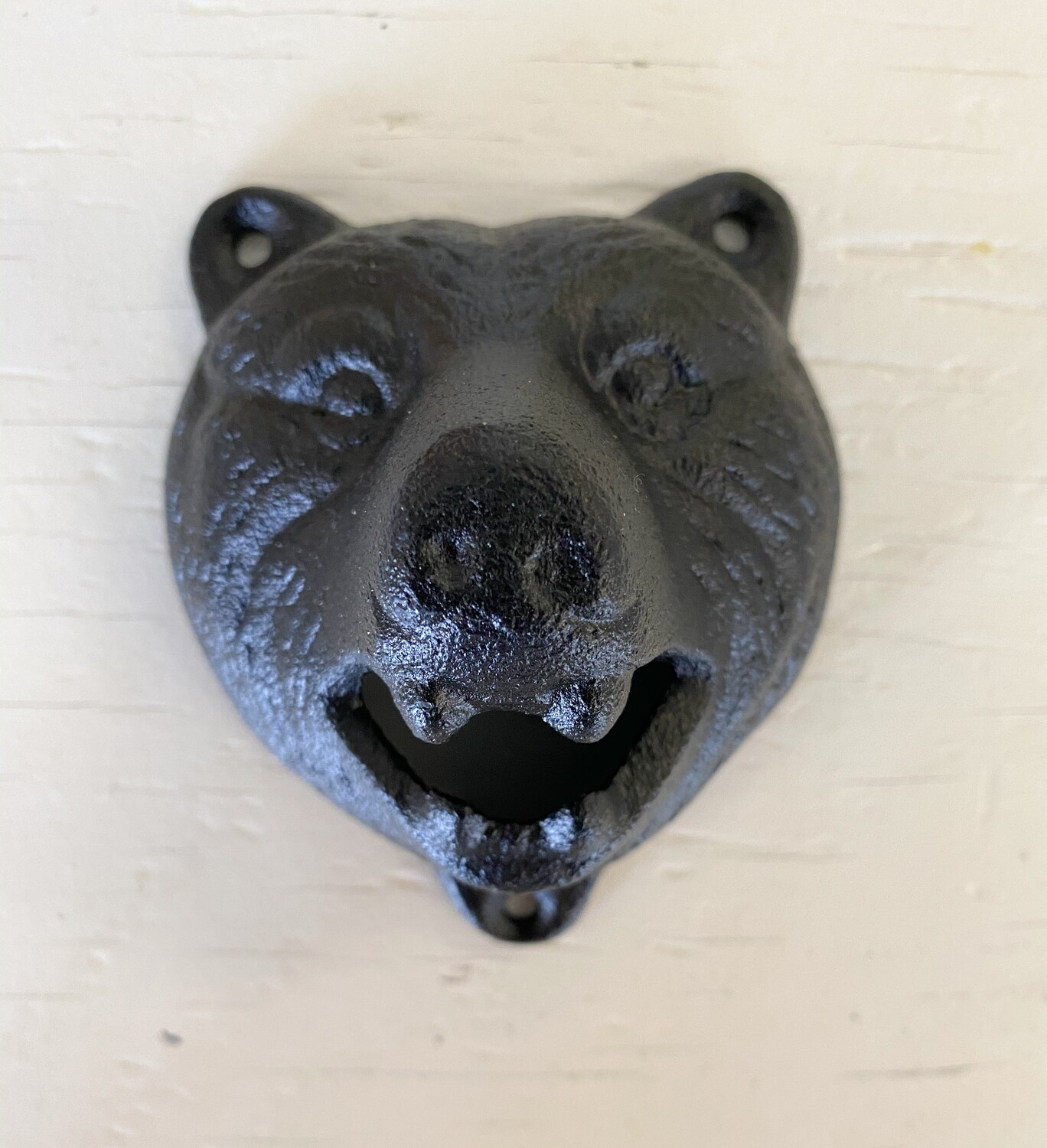 Black Bear Cast Iron Bottle Opener Wall Decor