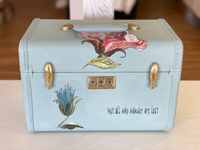 Vintage Hand Painted Samsonite Makeup Case