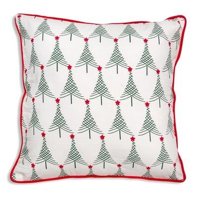 Christmas Trees Cotton Throw Pillow 18X18 - Free Shipping