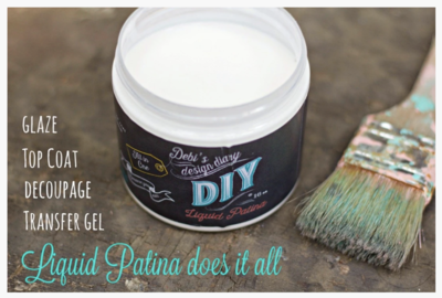 DIY Paint Crystal Clear Chandelier Liquid Patina